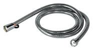homeXpert Metall Brauseschlauch 125 cm, Modell AGRAFF 125, 1/2 Zoll mit Drehkonus, verhindert Verknoten des Duschschlauches