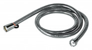 homeXpert Metall Brauseschlauch 150 cm, Modell AGRAFF 150, 1/2 Zoll mit Drehkonus, verhindert Verknoten des Duschschlauches