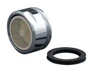 homeXpert Mischdüse Außengewinde M 24x1 mit Dichtungsring, Edelstahl Perlator für Wasserhahn Badezimmer Küche