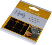 homeXpert Rutschstopper SOFT-PAD rund 20 mm/eckig 20 x 20 mm, Inhalt: 16 Stück , Höhe: 2,5 mm