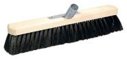 homeXpert Saalbesen Holz Länge: 40 cm, Metallstielhalter für 24 mm Stiel