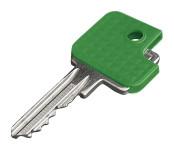 homeXpert Schlüsselkappe eckig 6 Stück, grün