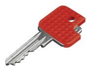 homeXpert Schlüsselkappe eckig 6 Stück, rot