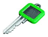 homeXpert Schlüsselkennring ECKIG, grün 27 x 25 mm, 17 x 15 mm