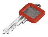 homeXpert Schlüsselkennring ECKIG, rot 27 x 25 mm, 17 x 15 mm