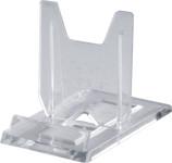 homiez Telleraufsteller, Tellerständer, Tellerhalter, transparent, 4 cm breit, 6,8 cm tief, 5 cm hoch, für Teller von Ø 5 bis 20 cm