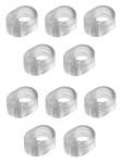 10er Pack homeXpert Türklinkenpuffer, Türgriffschutz, transparent