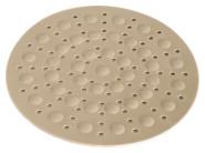 homiez Spülbecken-Matte RUND mit Luftpolster, beige Durchmesser 30 cm