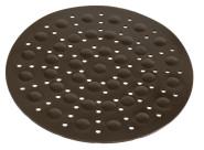 homiez Spülbecken-Matte RUND mit Luftpolster, braun Durchmesser 30 cm, Spülbecken Einlage, Unterlage