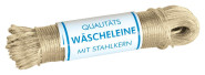 homiez Wäscheleine mit Vollstahleinlage, Stärke 3,5 mm Länge: 40 m ummantelt