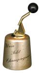 homiez Wein-/Sektflaschenverschluss GLOCKE, tropfgoldfarben
