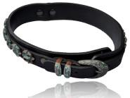 Hunde-Halsband der Serie Utica, aus Rinderleder, schwarz, 57 cm