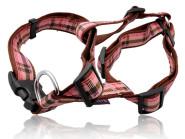 Hunde-Nylongeschirr Very British verstellbar von 55 bis 88  cm, in rosa