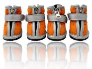 Hunde-Schuhe DogSport 4er-Set mit Gummisohle in Größe 1 orange