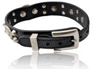 Hundehalsband Silver Nok, Python, schwarz, 42 cm