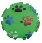 Hundespielzeug Vinyl Pfotenball, 10 cm, mit Squeeker, farblich sortiert