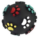 Hundespielzeug Vinyl Pfotenball, 7 cm, mit Squeeker, farblich sortiert