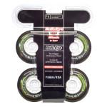 HYPER Inline Rolle Bullzeye 4er Set - 82A - 78 mm, Maximaler Speed, hohe Haltbarkeit, Inline Hockey Street Rollen Set, greenwhite