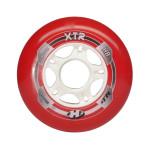 HYPER Inline Rolle XTR 8er Set - 84A - 80mm, Maximaler Speed, hohe Haltbarkeit, Inline Hockey Street Rollen Set, redwhite