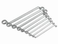 IRONSIDE Doppel-Ringschlüssel-Set 8-teilig Chrom-Vanadium-Stahl