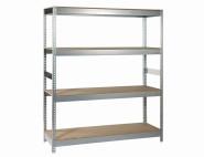 IRONSIDE Steckregal Holz/Metall 180 x 150 cm, Tragkraft 400kg