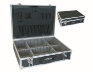 IRONSIDE Werkzeugkoffer Aluminium schwarz 460 x 330 x 150 mm, abschließbar