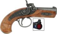 J.G.Schrödel Spielzeugpistole, Piratenpistole Philadelphia 13 cm, Einzel-Schuss-Pistole, in Tester Verpackung