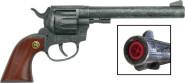J.G.Schrödel Spielzeugpistole, Spielzeugrevolver Buntline 26 cm, 12-Schuss Revolver mit Holzgriff, in Tester Verpackung