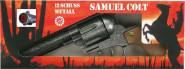 J.G.Schrödel Spielzeugrevolver Samuel Colt in antiker Optik, 27 cm, 12-Schuss Revolver