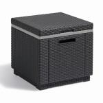JARDIN Beistelltisch ICE-Cube, Kühlbox, 42 x 42 x 41 cm, in graphit, in Geflechtoptik, aus Kunststoff