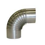 KaminoFlam® FAL (feueraluminiert) Bogenknie für Ofenrohre 120 mm ohne Tür