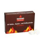 KaminoFlam® - Kohleanzuender 64 Stueck, weiss