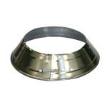 KaminoFlam® Ofenrohrrosetten vernickelt 120-135 mm