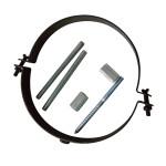 KaminoFlam® Rohrhalter schwarz verstellbar für 150er-Rohre