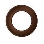 KaminoFlam® Wandrosette für Ofenrohre braun 120 mm