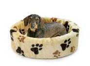 Karlie Basic Liegebett mit Pfoten-Motiv für Hunde