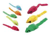 Karlie Bunte Plüschmäuse Katzenspielzeug, 5 cm, 5 Stück, farblich sortiert