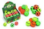 Karlie Hunde-Ball aus Moosgummi für Hunde in Neonfarben, farblich sortiert