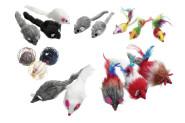 Karlie Plüschmaus mit Stimme Katzenspielzeug, 12 cm