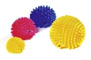Karlie Vinyl Igel Hundespielzeug, farblich sortiert