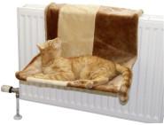 Katzenhängematte PARADIES, kann an der Heizung befestigt werden, beige / braun, groß, 50 x 35 cm