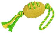 Kerbl Football Vollgummi, Baumwolle grün-gelb sortiert, 42 cm