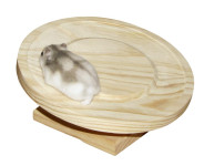 Kerbl Hamsterlaufteller aus Holz Ø 20cm