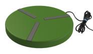 Kerbl Heizplatte für Geflügeltränken Ø 250 mm; 24V; 15W; mit Netzteil