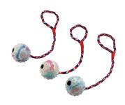 Kerbl Hundespielzeug Ball am Seil, Spielball, Wurfspielzeug, Apportierspielzeug, 30 cm
