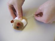 Kerbl Katzenspielzeug Plüschspielzeug, ca. 7 cm, mit Handaufzug, verschiedene Motive