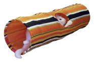 Kerbl Katzenspielzeug Rascheltunnel, aus Nylon, Durchmesser 25 x 90 cm