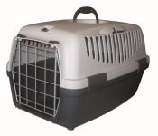 Kerbl Katzentranportbox GULLIVER 1, Tierbox, Katzenbox, Hundebox, farblich sortiert, Maße 48 x 32 x 31 cm