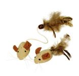 Kerbl Mäuse mit Federn NATURE, 4,5 cm