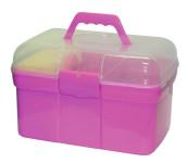 Kerbl Putzbox 8tlg. Set aus Kunststoff in rosa